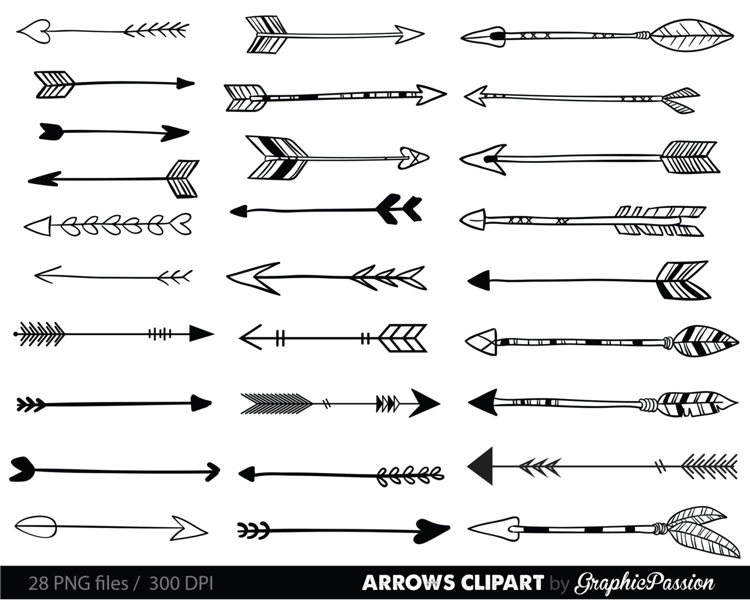 Clip art tribal arrow. Arrows clipart creative