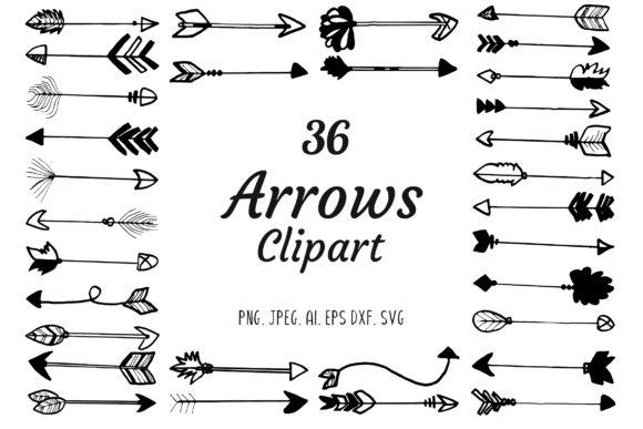 Arrows clipart creative.  premium handdrawn