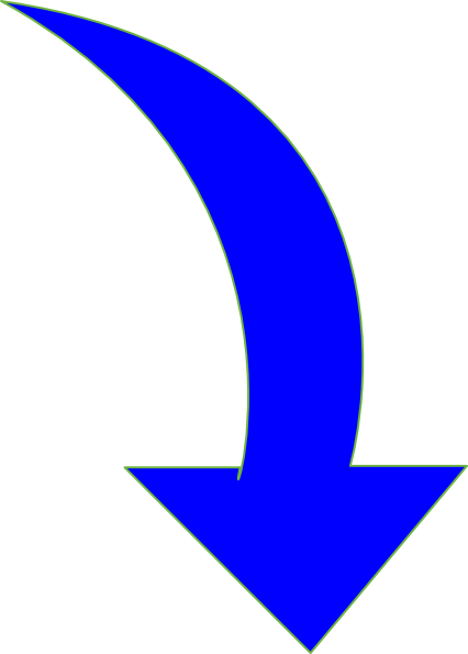 Thin . Arrows clipart curved