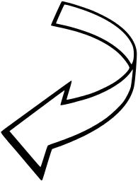 Arrows clipart curved. Arrow kid pinterest clip