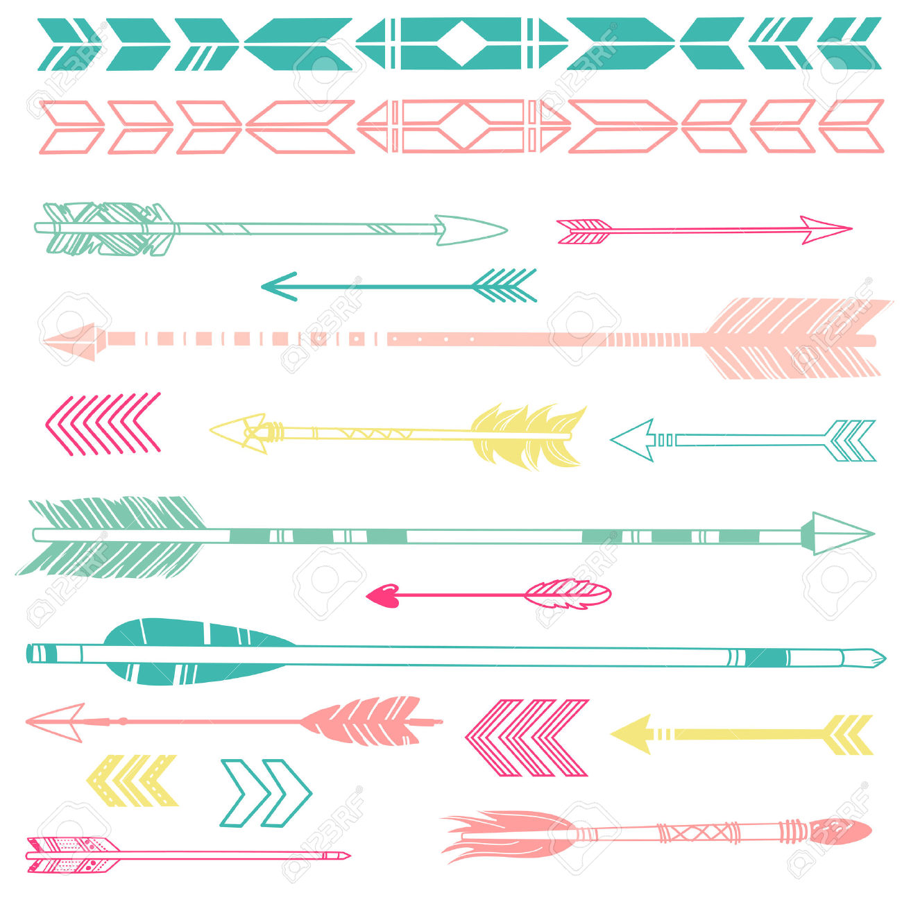 Arrows clipart cute. Indian arrow