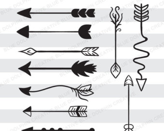 Arrows clipart decorative. Boho arrow etsy svg