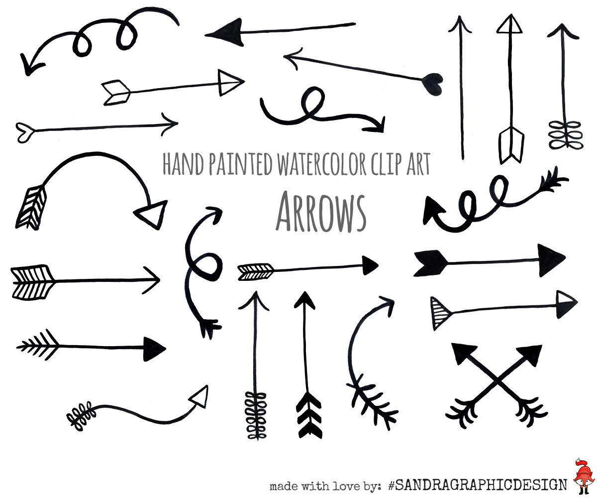 Arrows clipart decorative. Arrow clip art black