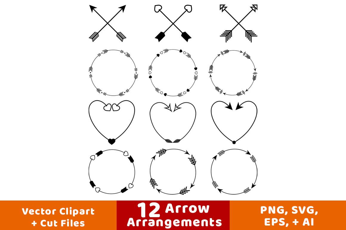 arrow wreath rustic. Arrows clipart decorative