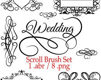 Photoshop brush set brushes. Arrows clipart filigree