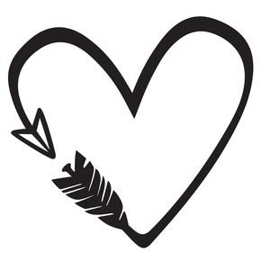 Arrow silhouette clip art. Arrows clipart heart