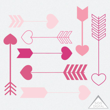 Arrows clipart heart. Pink arrow valentine png