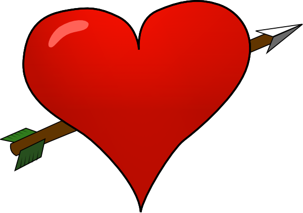 Valentine arrow clip art. Arrows clipart heart
