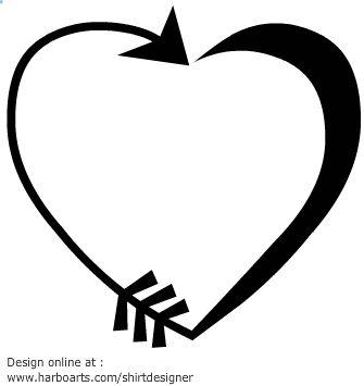 Vector made of an. Arrows clipart heart