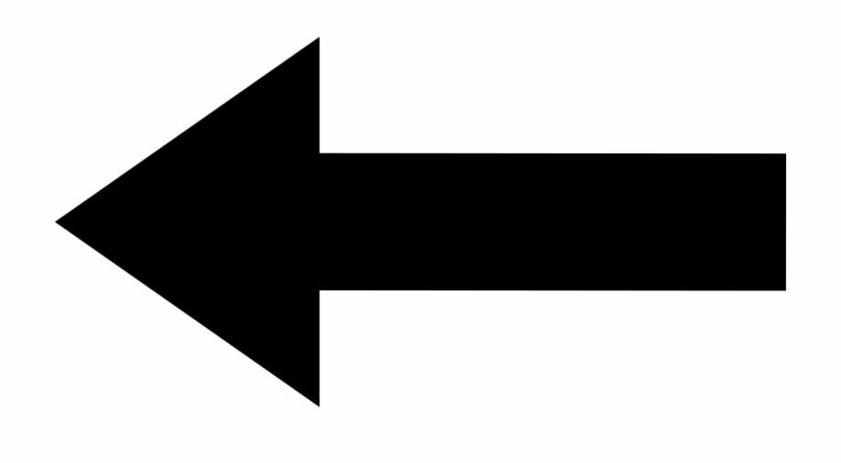 Arrows clipart outline. Left back straight arrow