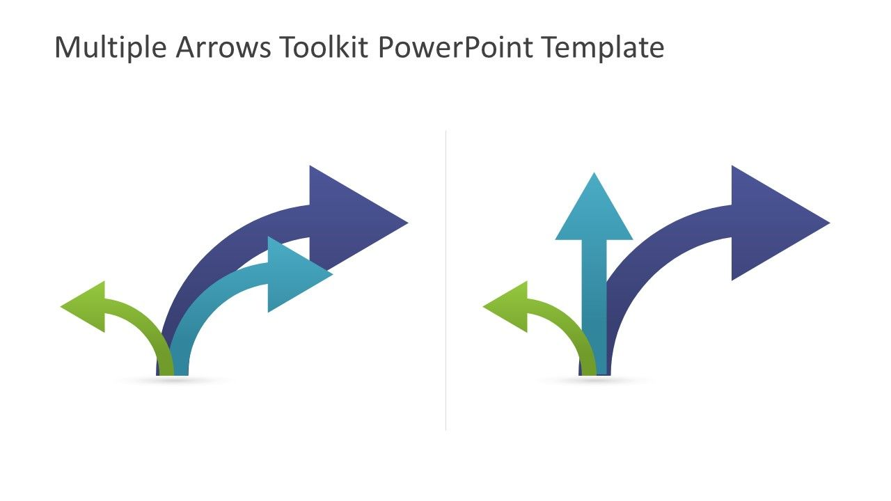 Multiple toolkit template . Arrows clipart powerpoint