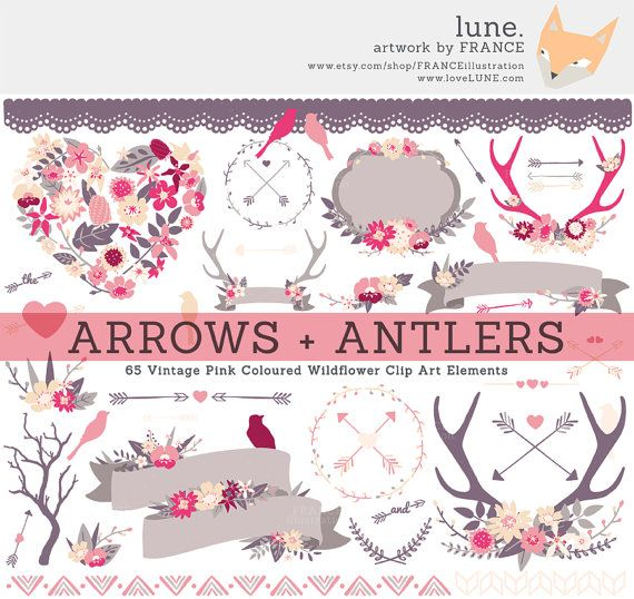 Arrows clipart shabby chic. Get for antler arrow