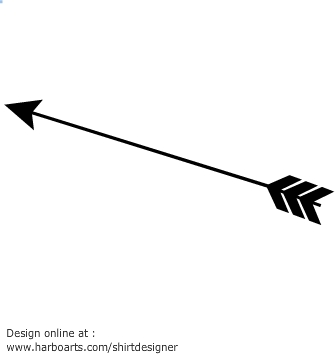 Arrows clipart silhouette. Feather images at getdrawings