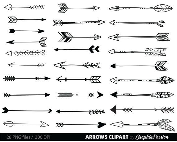 Clip art tribal arrow. Arrows clipart simple
