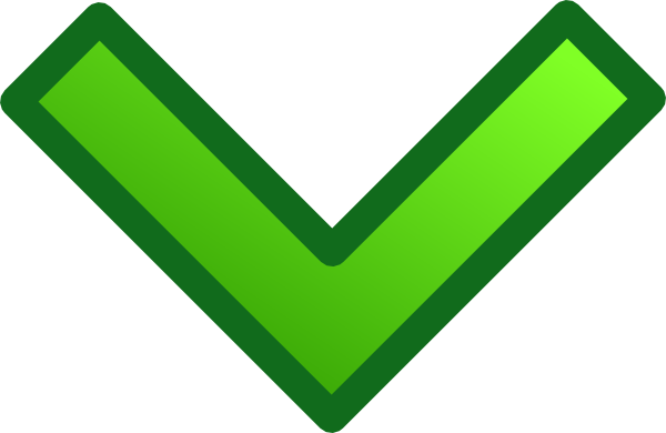 Arrows clipart single. Green down arrow set