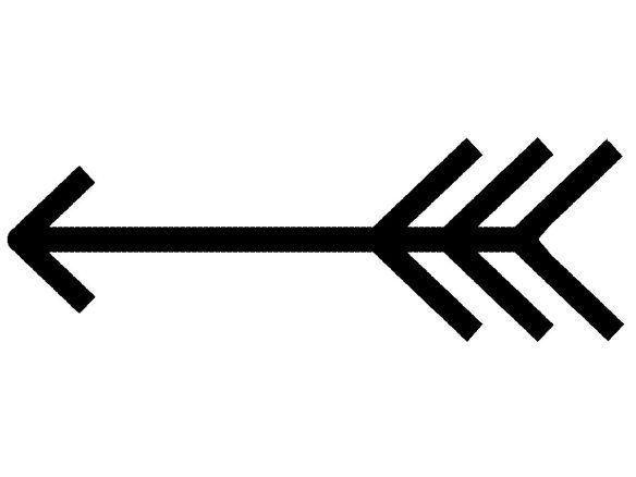 Stenciled pillow arrow crafts. Arrows clipart single