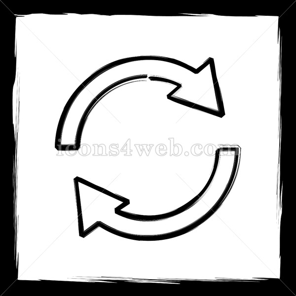 Reload two icon . Arrows clipart sketch