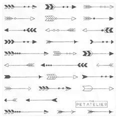 Tribal vector digital files. Arrows clipart south