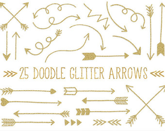 Arrows clipart swirl. Cute arrow printable gold