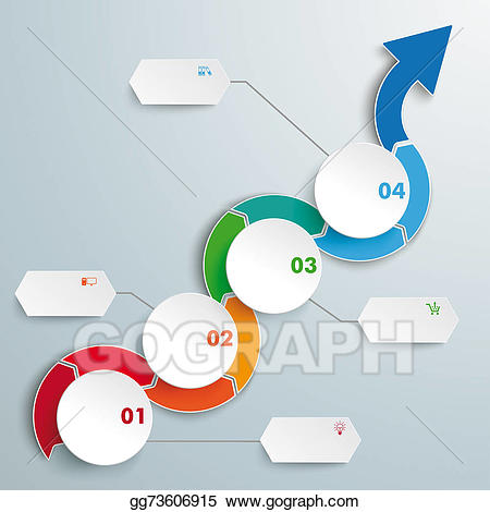 Arrows clipart timeline. Stock illustration arrow wave