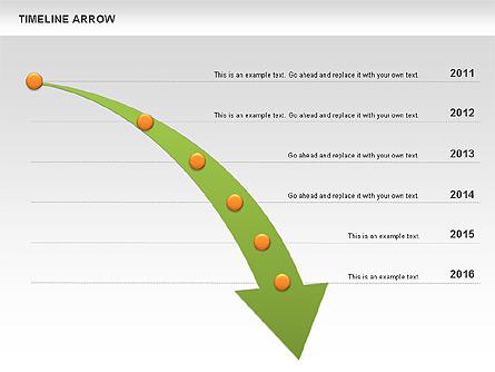 Arrows clipart timeline. Arrow diagram for powerpoint