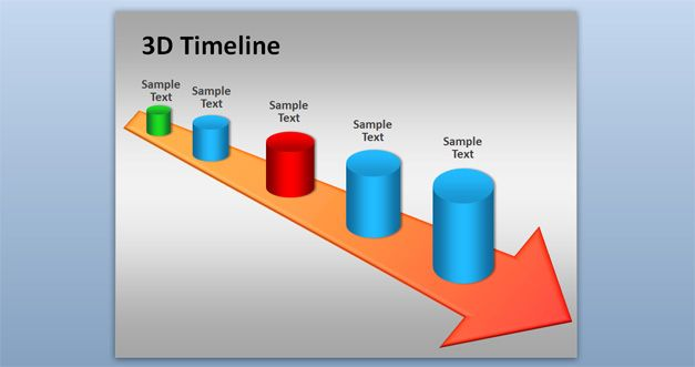 Arrows clipart timeline. Free d powerpoint template
