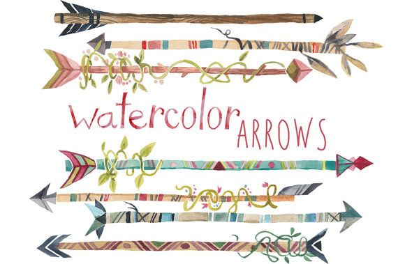 Arrow tribal clip art. Arrows clipart trendy