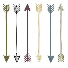 Arrows clipart trendy. Directional print from original