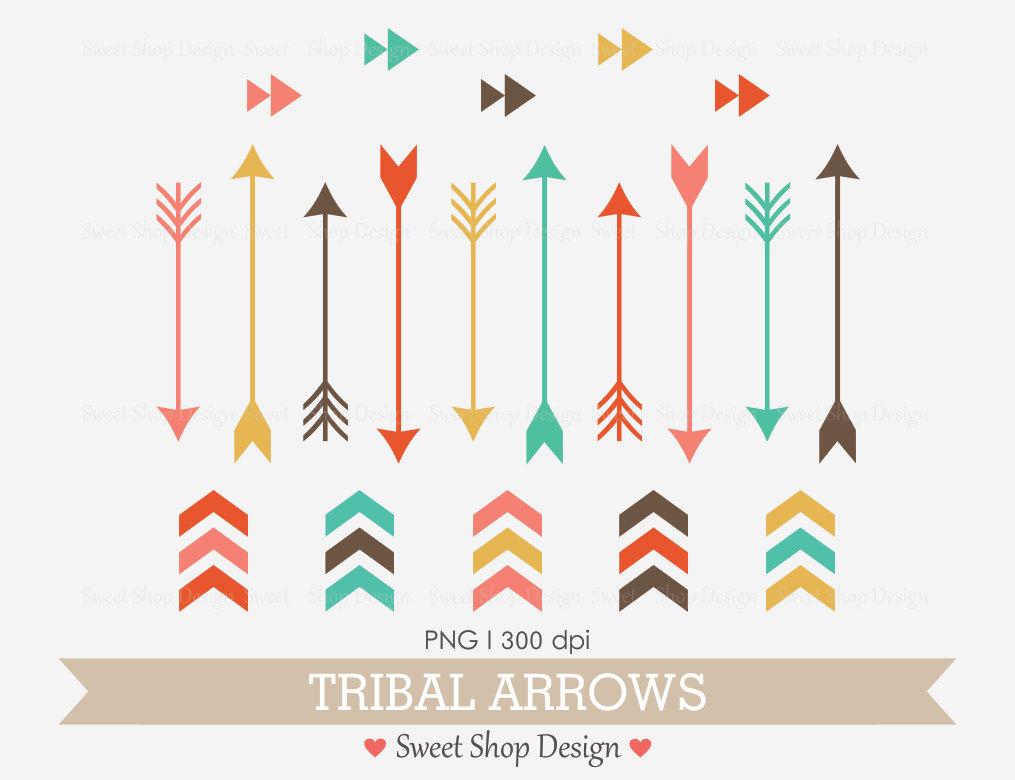 Arrows clipart trendy. Tribal arrow clip art