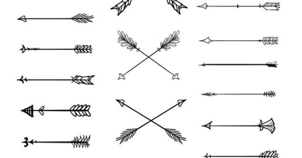 Arrows clipart tribal. Doodle vector by blackca