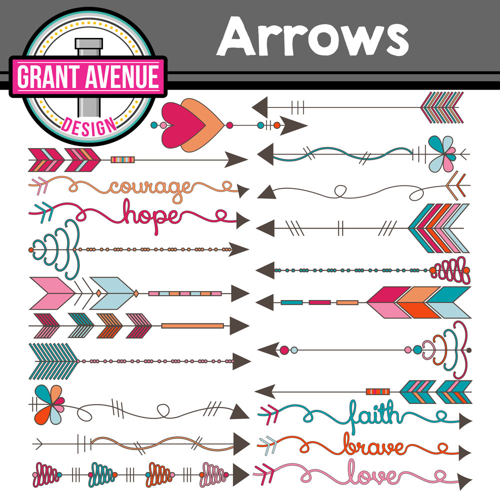 Arrows clipart tribal. Grant avenue design arrowscliparttribalarrowsclipart