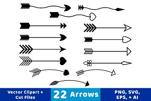 objects creative market. Arrows clipart vector