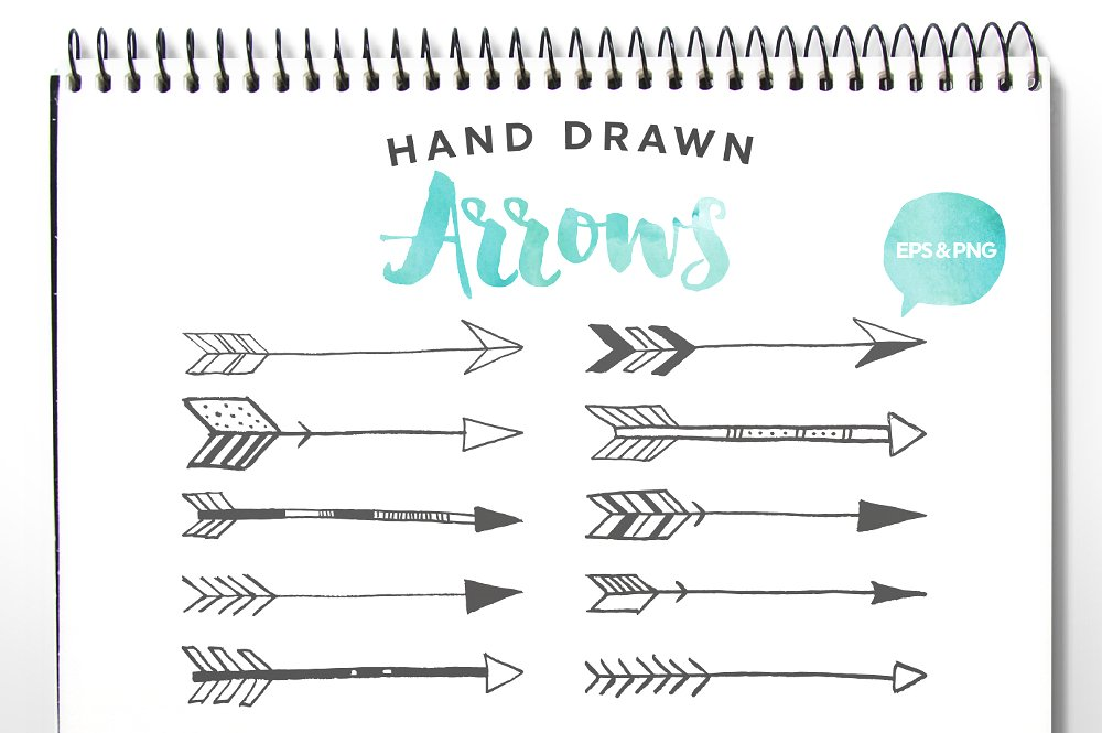 Hand drawn clip art. Arrows clipart vector