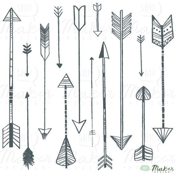 Arrows clipart vintage. Pretty arrow clip art