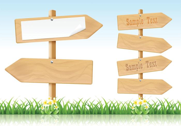 Wooden arrow signs psd. Arrows clipart wood
