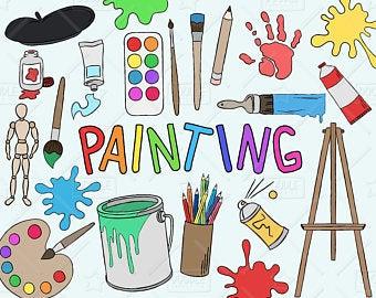 Art clipart. Artist etsy