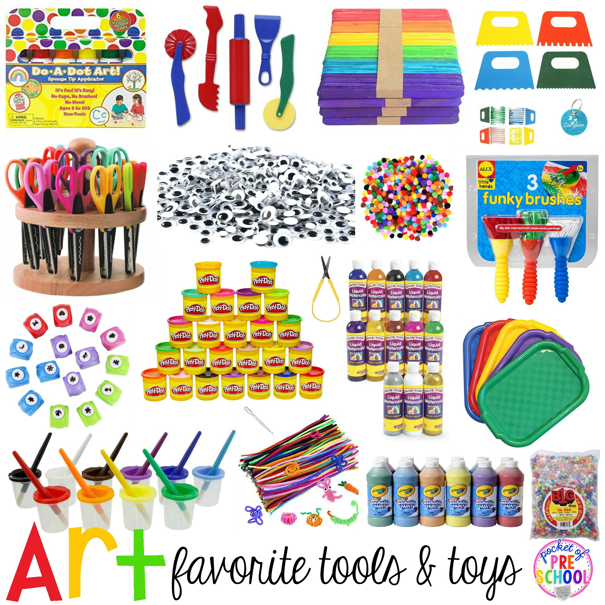Art clipart art center. Favorite tools and toys