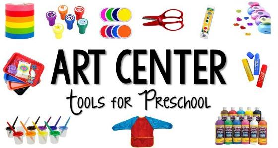 Art clipart art center. Tools for preschool pre