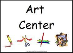 Www preschoolprintables com signs. Art clipart art center