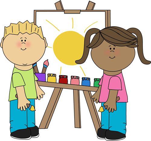 Artist clipart cute. Free kindergarten center cliparts