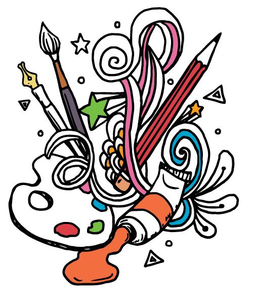 Art clipart art class. Kids after school scruffy