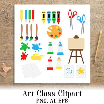 Class school clip back. Painter clipart art classroom