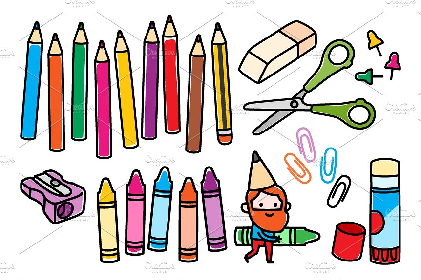 Art clipart art craft. Colorful arts and crafts