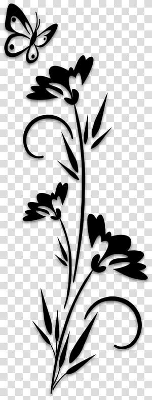 Flowers by tribal rose. Art clipart art design