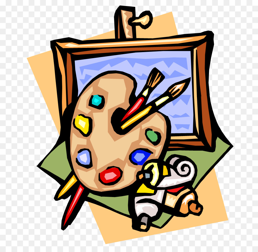 Painting cartoon illustration . Art clipart art exhibit