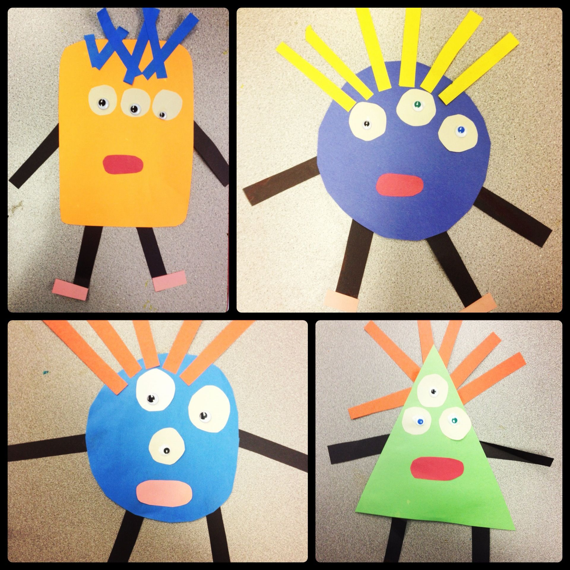 Art clipart art lesson. Geometric monsters special education
