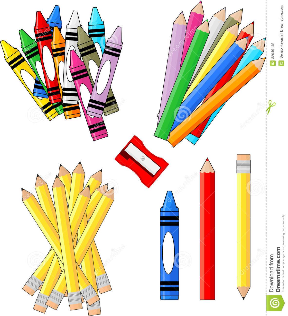 School supplies border free. Art clipart art material