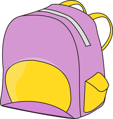 Backpack clipart lunch. Purple clip art vector