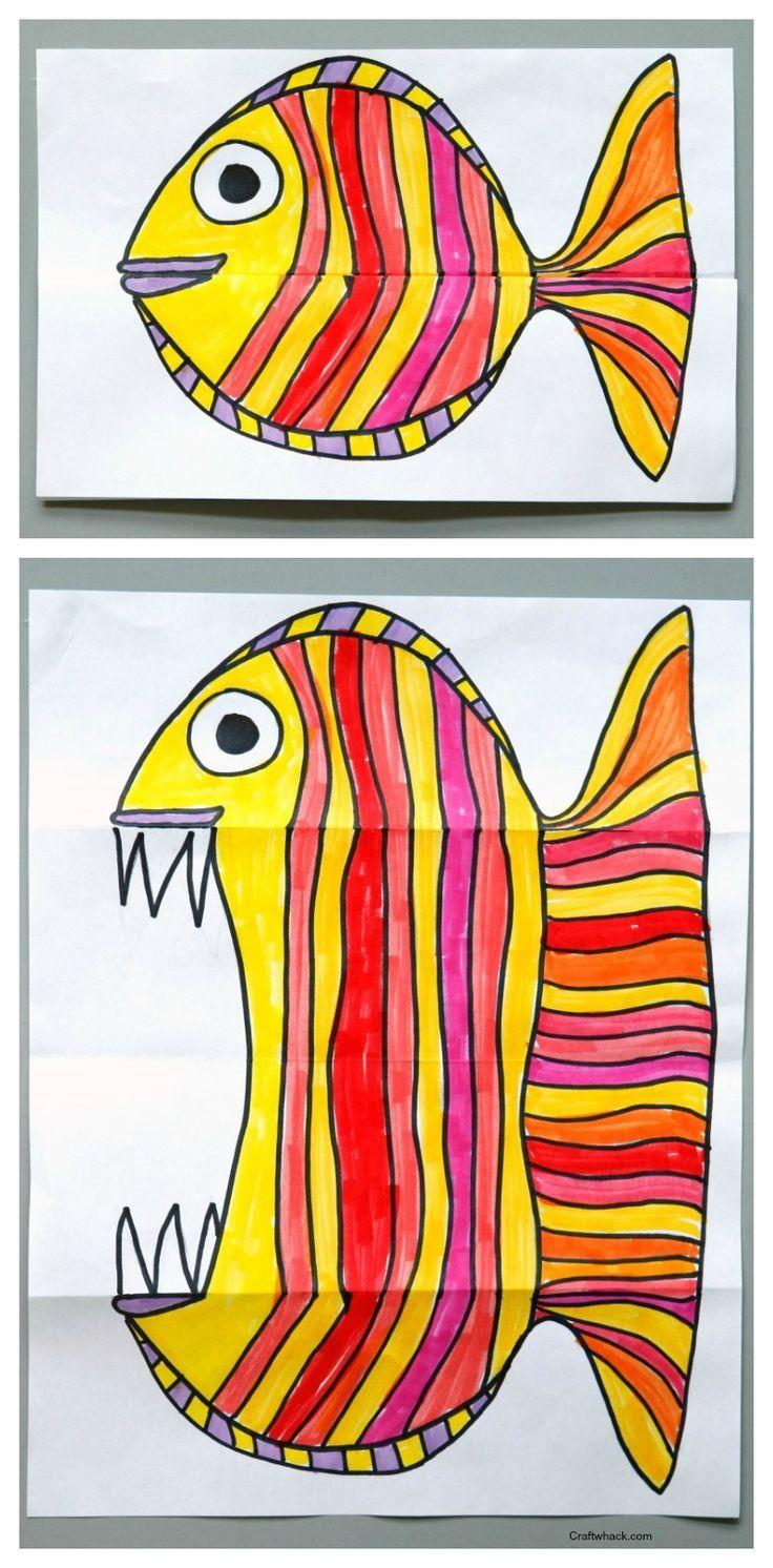 Surprise ferocious beings paper. Art clipart art project