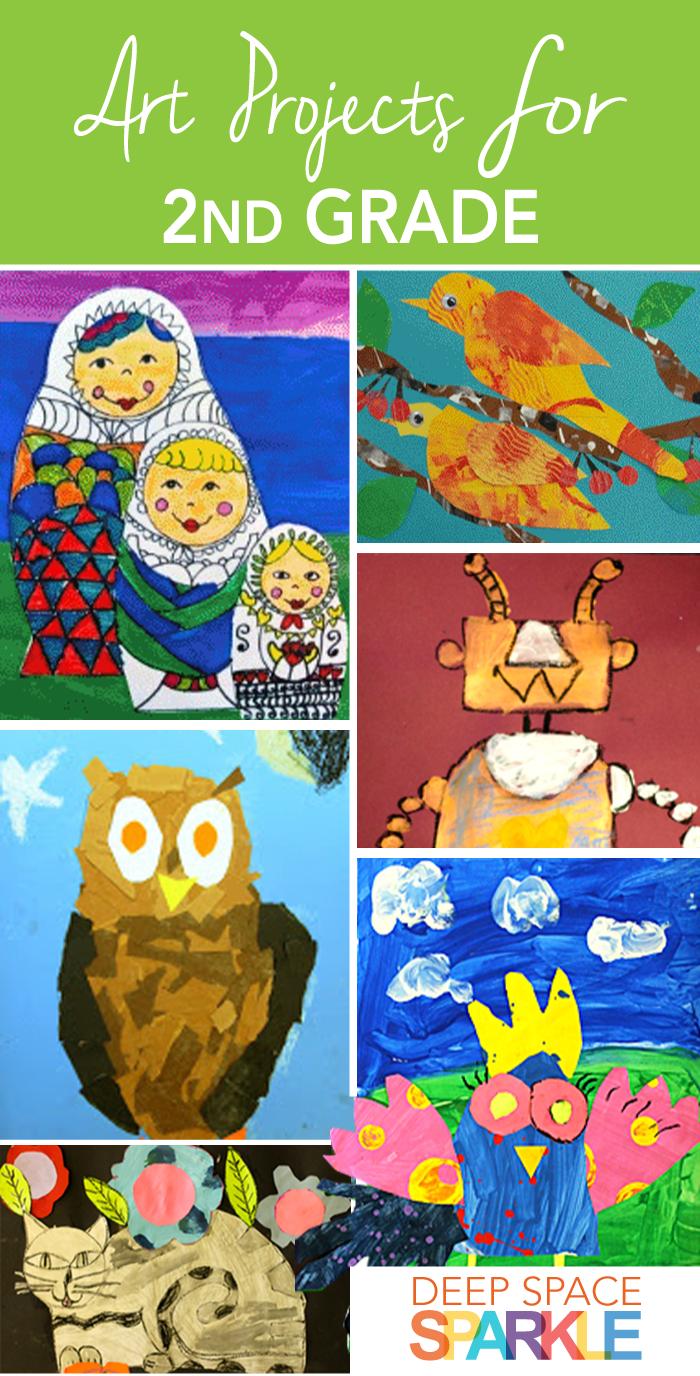 Art clipart art project. Second grade collages ideas